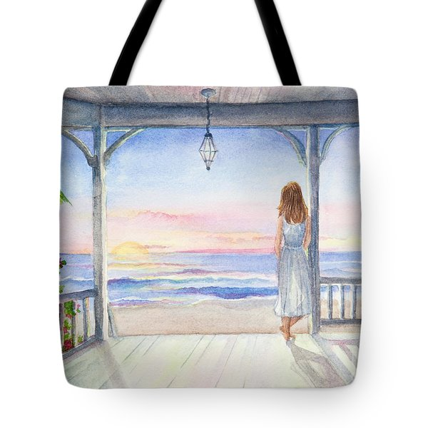 Summer Morning Watercolor Tote Bag