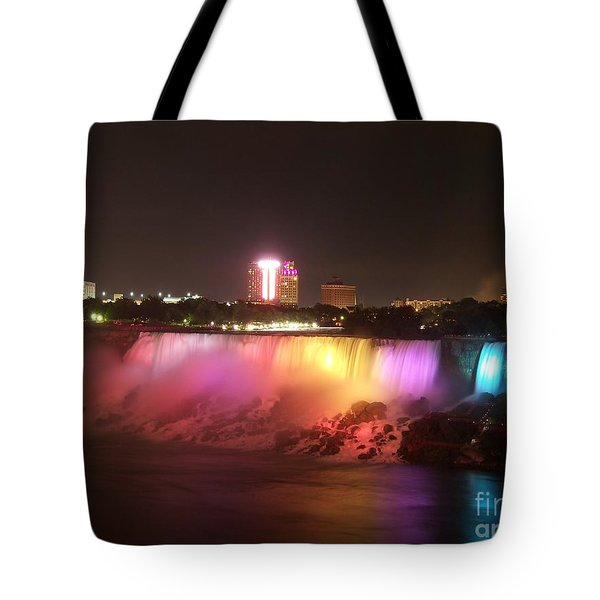 Summer Night In Niagara Falls Tote Bag by Lingfai Leung
