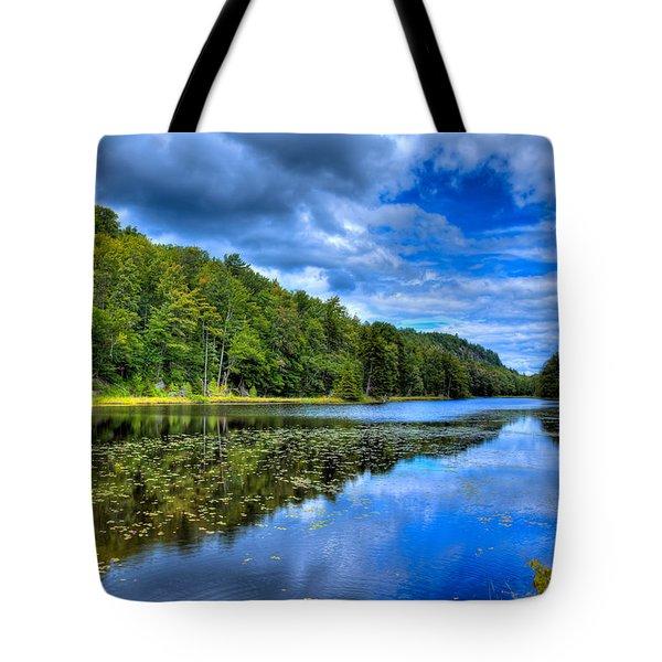 Summer On Bald Mountain Pond Tote Bag