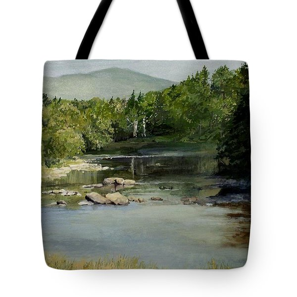 Summer On The River In Vermont Tote Bag