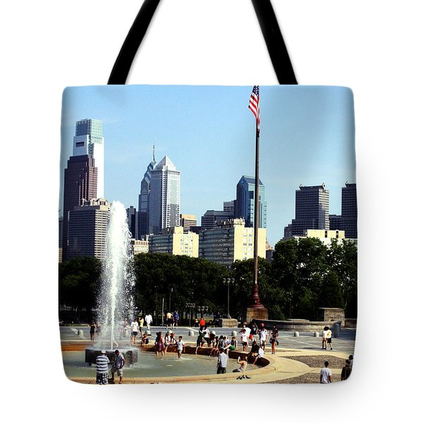 Summer Philly Skyline Tote Bag by Christopher Woods