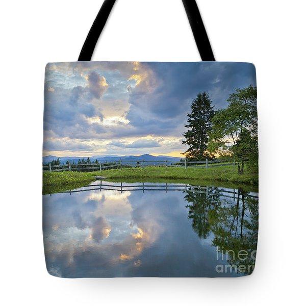 Summer Pond Reflection Tote Bag