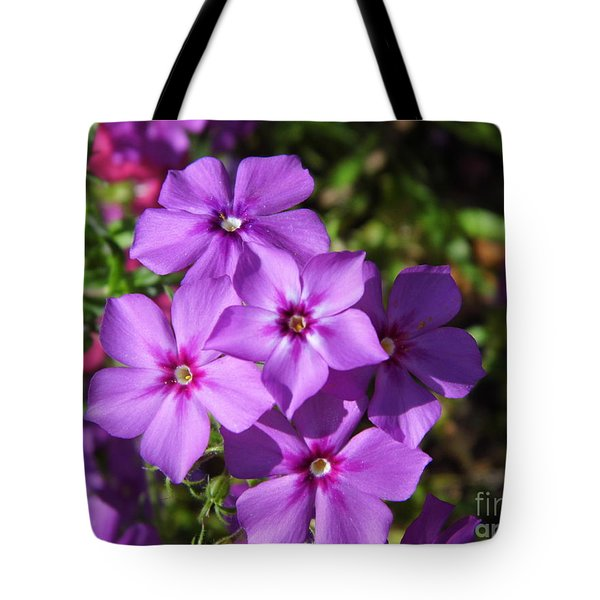 Tote Bag featuring the photograph Summer Purple Phlox by D Hackett