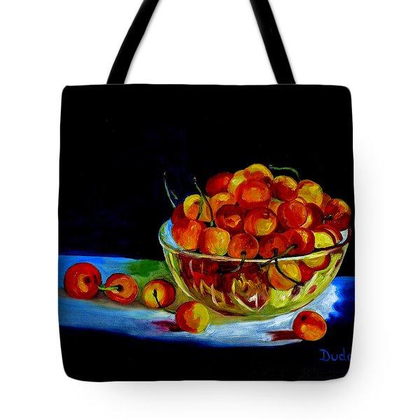 Summer Rainier Cherries Tote Bag