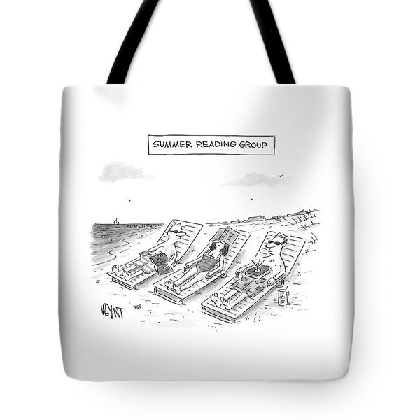 Summer Reading Group -- Three Beach Goers Lounge Tote Bag