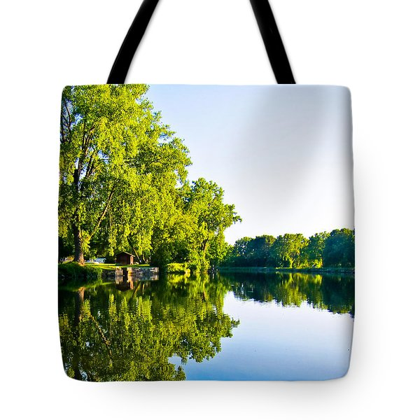 Tote Bag featuring the photograph Summer Reflections by Sara Frank