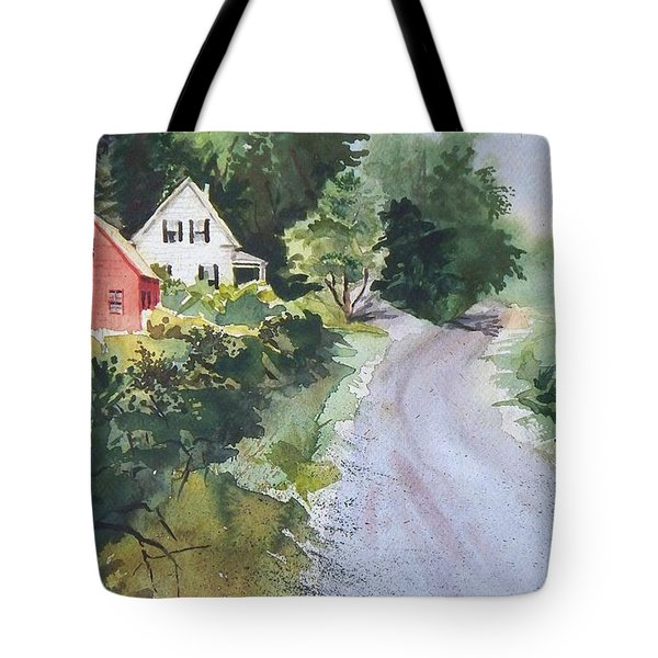 Tote Bag featuring the painting Summer Road by Joy Nichols