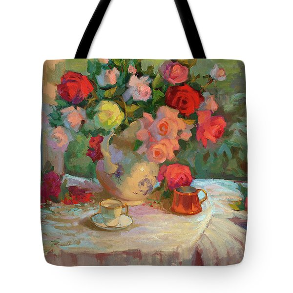 Summer Roses Tote Bag by Diane McClary
