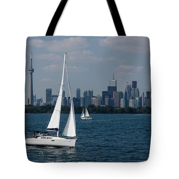 Summer Sailing Postcard From Toronto Tote Bag