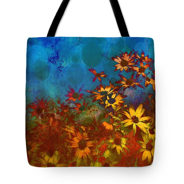 Summer Sizzle Abstract Flower Art Tote Bag