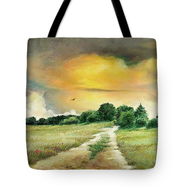 Tote Bag featuring the painting Summer by Sorin Apostolescu
