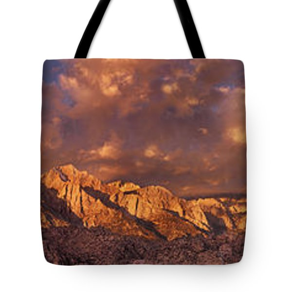 Tote Bag featuring the photograph Summer Storm Clouds Over The Eastern Sierras California by Dave Welling