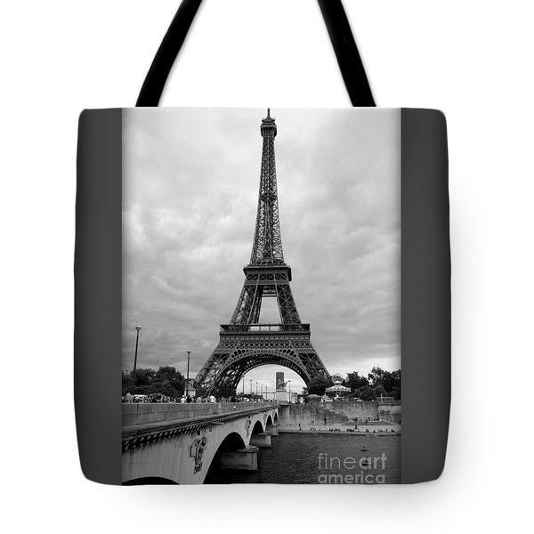 Summer Storm Over The Eiffel Tower Tote Bag