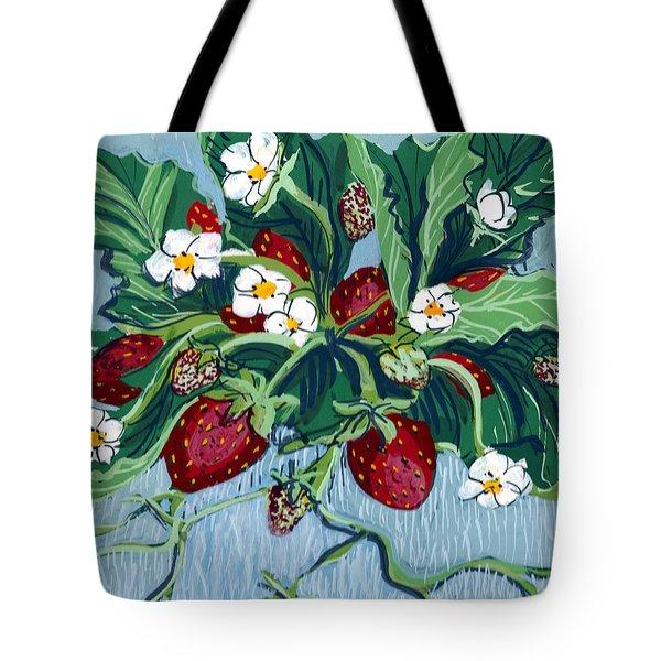 Summer Strawberries Tote Bag