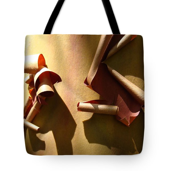 Tote Bag featuring the photograph Summer Sun On Arbutus by Cheryl Hoyle