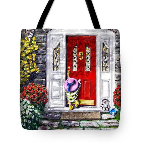 Tote Bag featuring the painting Summer Sun by Ron Haist