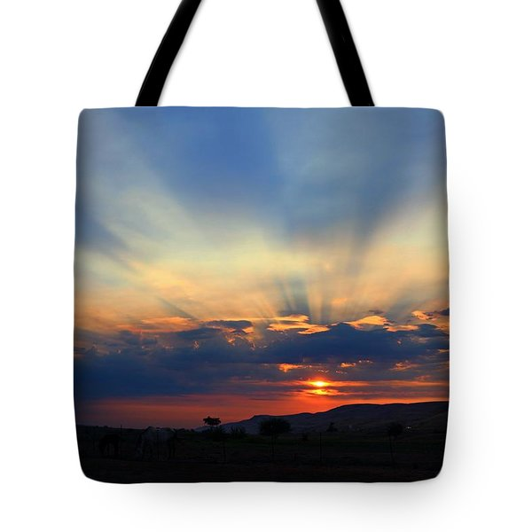 Tote Bag featuring the photograph Summer Sunrise by Lynn Hopwood