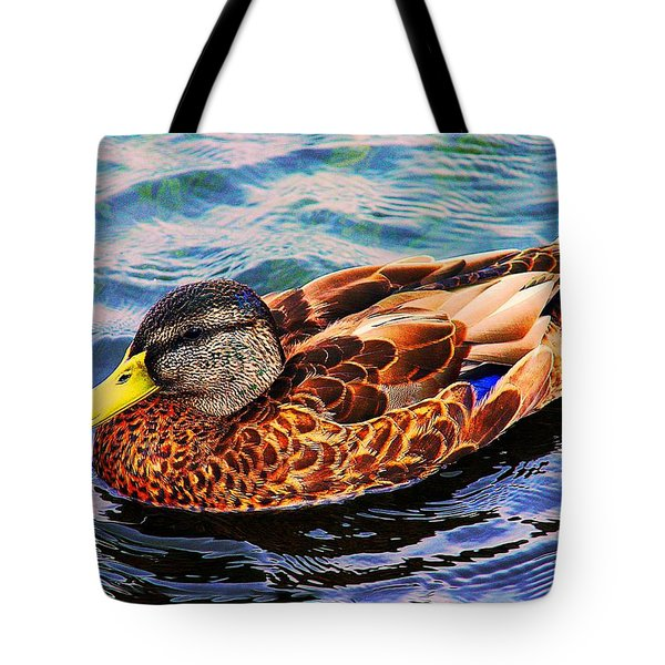 Tote Bag featuring the photograph Summer Swim by Denyse Duhaime