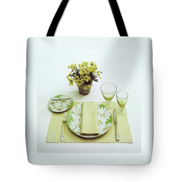 Summer Table Setting Tote Bag