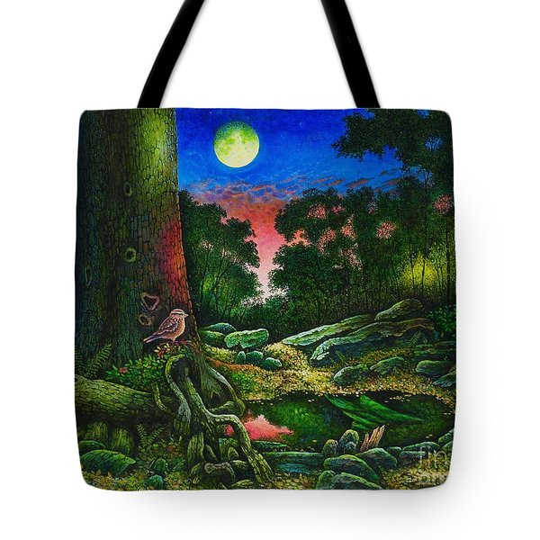 Summer Twilight In The Forest Tote Bag