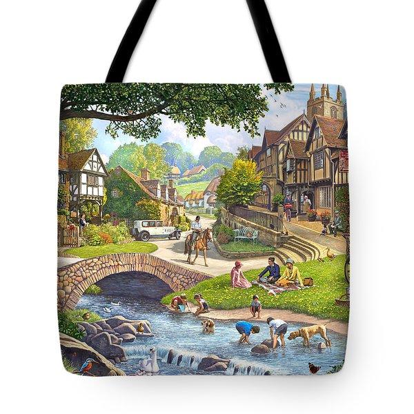 Summer Village Stream 2015 Tote Bag