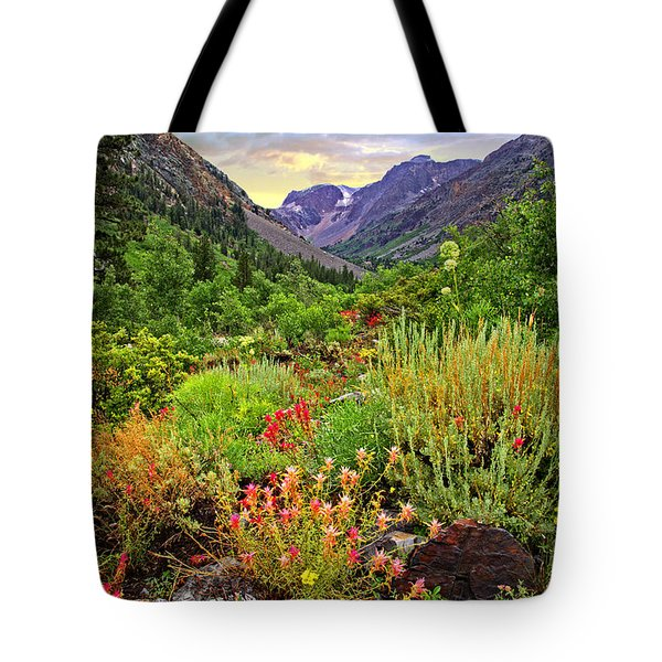 Summer Wildflowers In Lundy Canyon Tote Bag