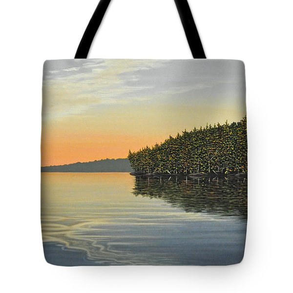 Tote Bag featuring the painting Summers End by Kenneth M  Kirsch