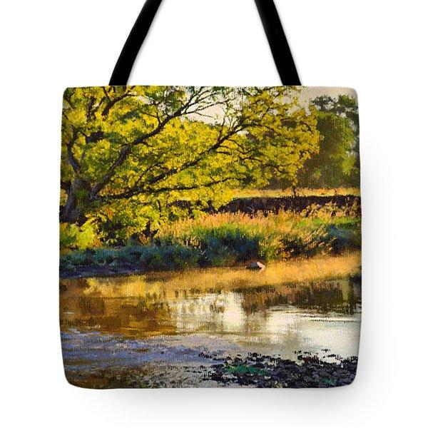Summer's Stream Dawn Tote Bag