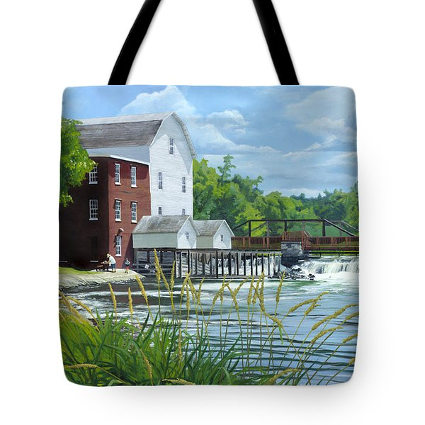 Summertime At The Old Mill Tote Bag