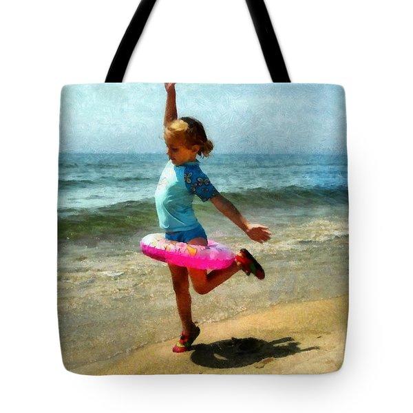 Summertime Girl Tote Bag