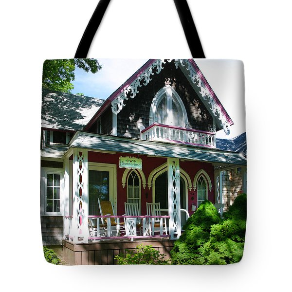 Summertime On The Vineyard Tote Bag by Michelle Wiarda