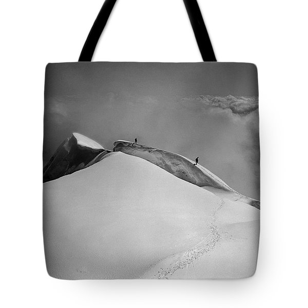 T-702412-bw-summit Of Mt. Robson Tote Bag