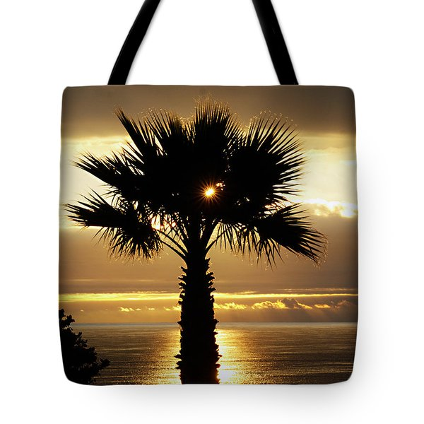 Sun And Palm And Sea Tote Bag
