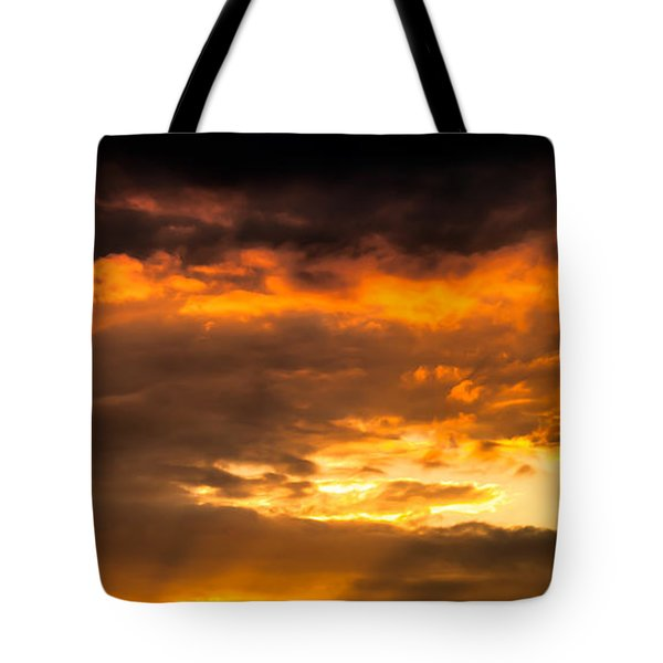 Sun Beams And Clouds Tote Bag by Optical Playground By MP Ray