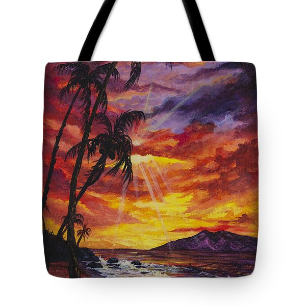 Tote Bag featuring the painting Sun Burst by Darice Machel McGuire