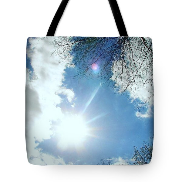 Tote Bag featuring the photograph Sun Burst by Pamela Hyde Wilson