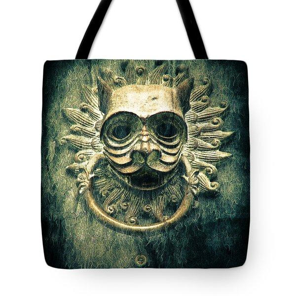 Sun Cat Door Knocker Tote Bag
