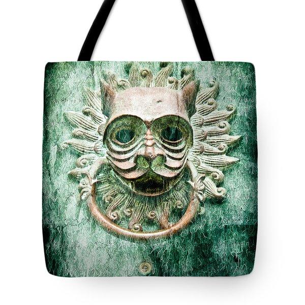 Sun Cat Door Knocker Old Polar Tote Bag