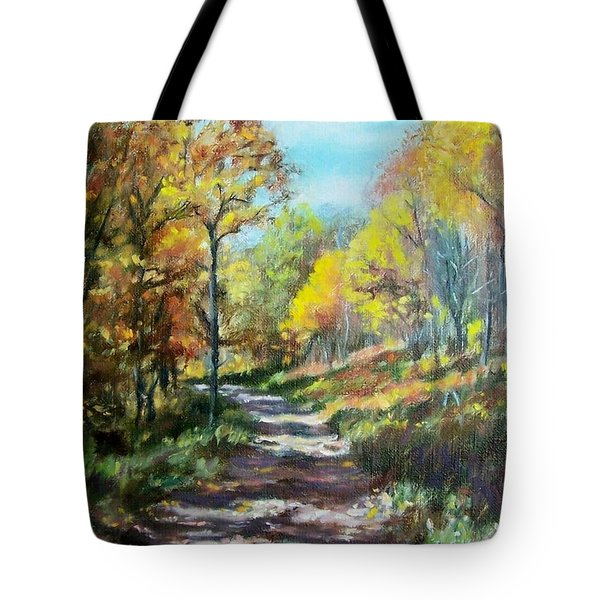 Sun Dappled Path Tote Bag by Bonnie Mason
