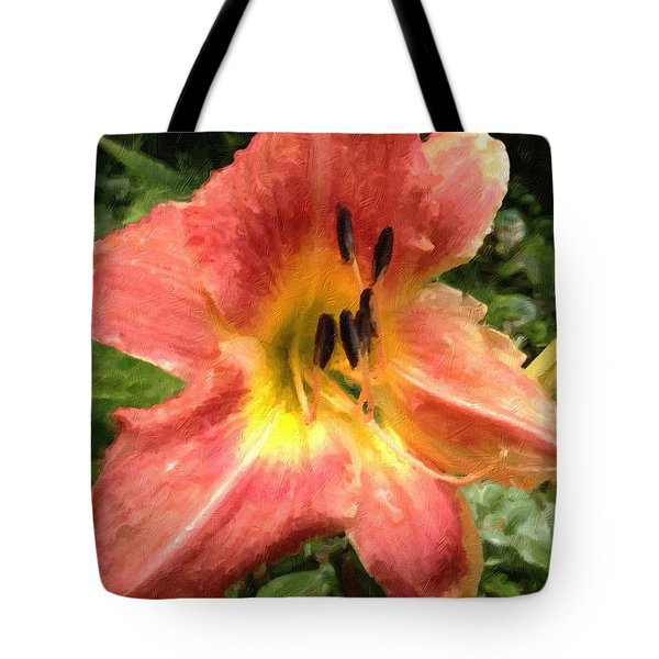 Sun Day Lilly  Tote Bag