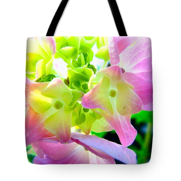 Sun-drenched Hydrangea Tote Bag