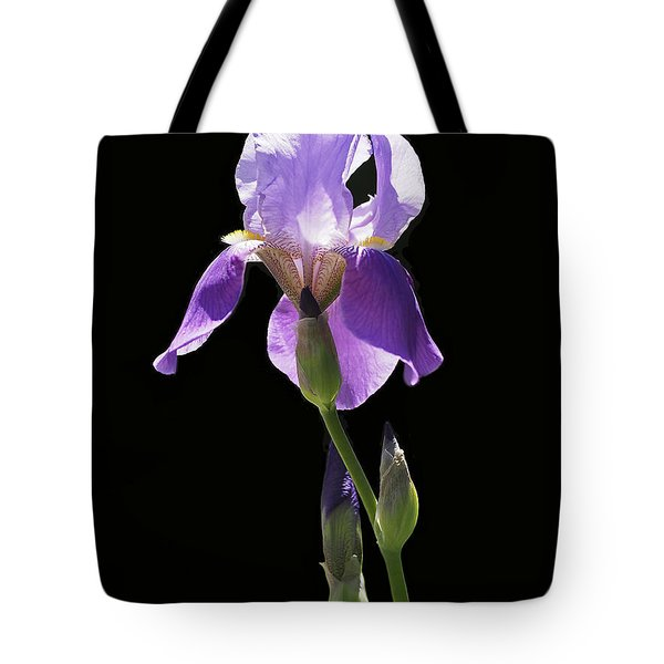 Sun-drenched Iris Tote Bag by Rona Black