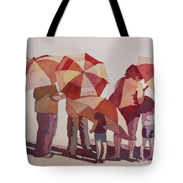 Sun Drenched Parasols  Tote Bag