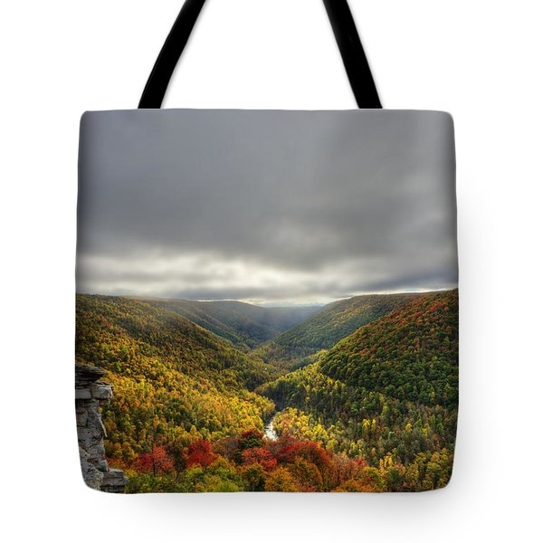 Sun Finding Openings In The Clouds Tote Bag