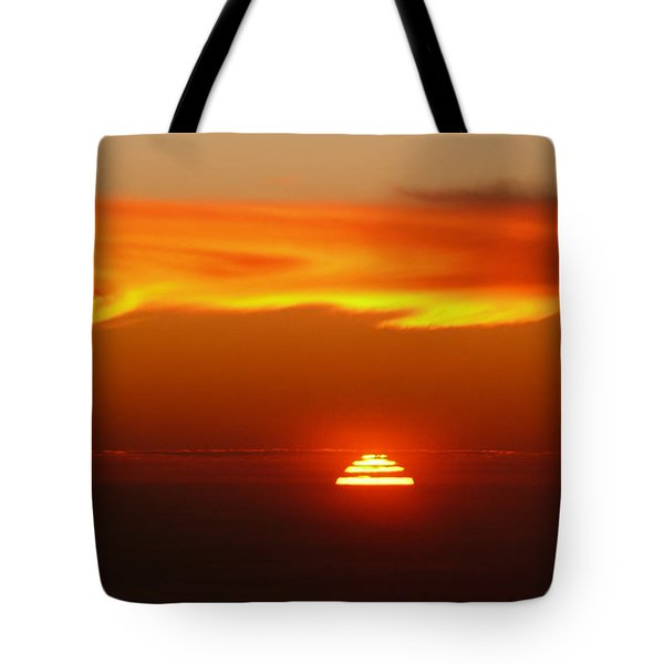 Sun Fire Tote Bag by Evelyn Tambour