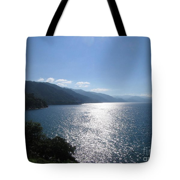 Sun Flare On The Bay Tote Bag
