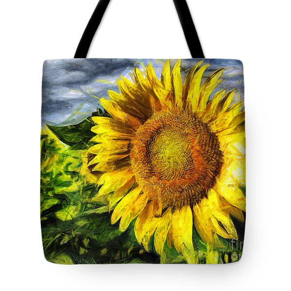 Sunflower Drawing  Tote Bag
