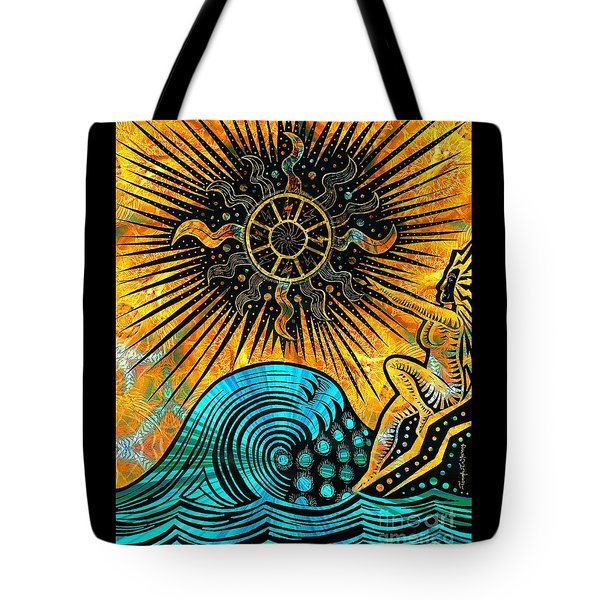 Big Sur Sun Goddess Tote Bag by Joseph J Stevens