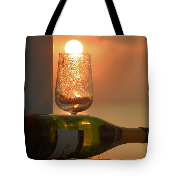Tote Bag featuring the photograph Sun In Glass by Leticia Latocki