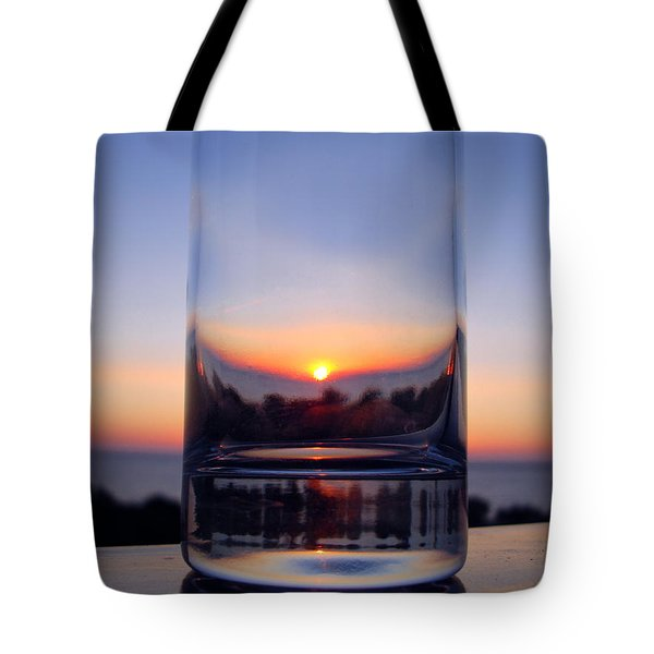 Sun In The Glass Tote Bag